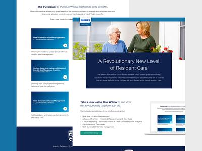 Philips Healthcare - Landing Page minimal platform resident care portal community management system senior living healthcare landing page hubspot gated