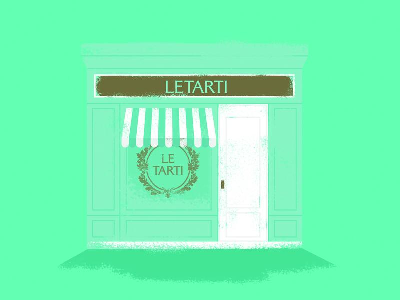 Cafe LeTarti boutique paris cafe france cafe logo