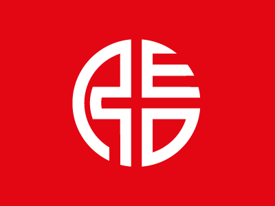 RED church red icon logo white circle oval