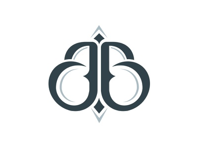 JB logo ornaments symetric logotypes letter symbol logo jb
