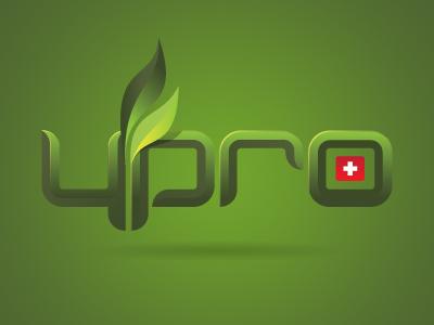 Ypro swiss flower green vector logo