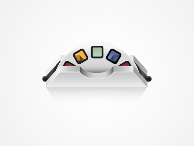 Viewmaster viewmaster photo cylinder color vector ilustration icon iphone app forsale