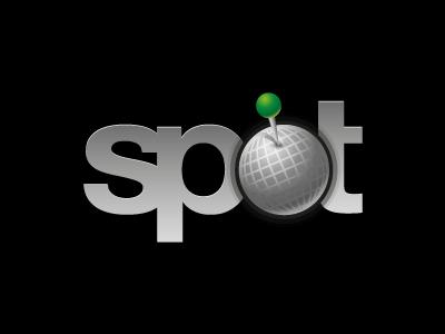 Spot logo vector spot globe pin black grey