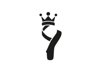 Ballerina logo vector black white ballerina king