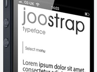 Joostrap Bootstrap Typeface