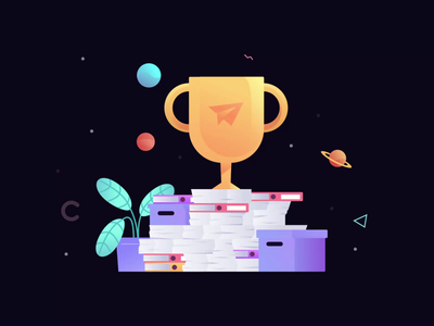 Trophy Loop Animation gif illustration web animation bodymovin lottiefiles ux motion design ui lottie ux after effects animation