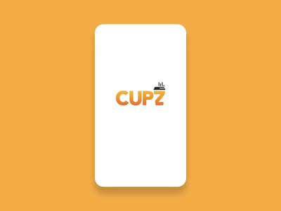 Cupz Splash Screen IOS App coffee mobile app splash screen product design logo mobile app ui lottie ux after effects animation