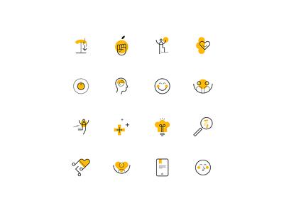 Weight in Mind — Icon set identity minimal website web vector ui illustrator icon design branding