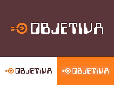 Objetiva Brand branding graphic  design design logotype design logotype logotipo logo typography