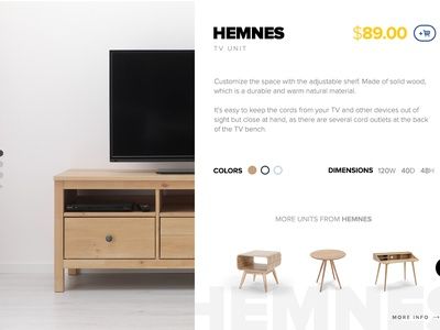 Product Detail Page for IKEA redesign web shop store e-commerce ecommerce detail ikea flat material ux ui