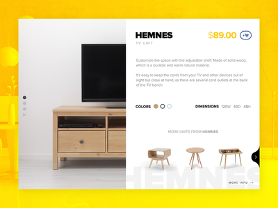 Product Detail Page for IKEA