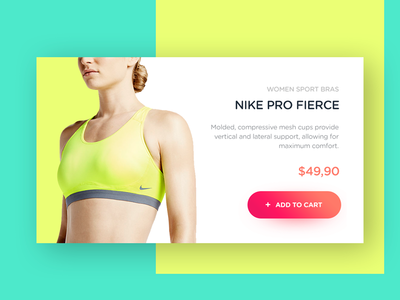 Product Card for Nike Pro Fierce