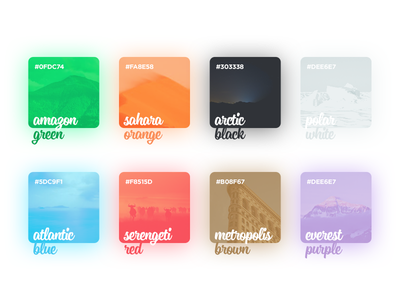 Color Palette for New Project concept minimal red green blue design flat material colorful color ui