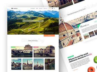 Tripadvisor Redesign - Homepage white flat website web homepage home ux ui concept green travel tripadvisor
