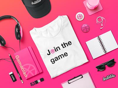 Dribbble Starter Kit For New Dribbbler's player kit mockup dribbble-invite ux ui pink invitation draft welcome invite dribbble