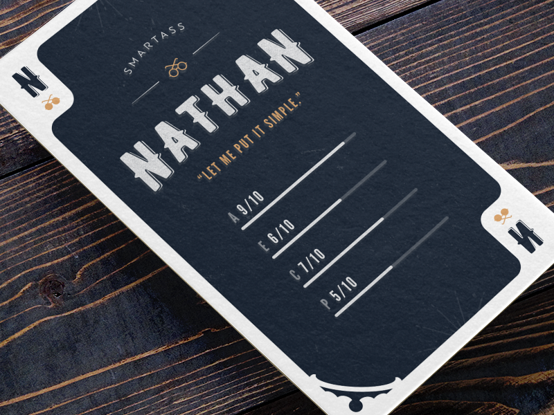 Persona Card realistic vintage texture playing cards personas persona card typography 3d card persona