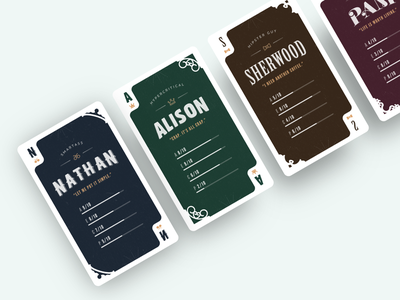Persona Cards persona card 3d typography persona card personas playing cards texture vintage realistic
