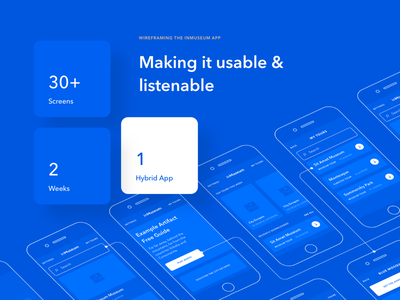 Wireframing the inMuseum App android ios interaction inmuseum redesign app mobile museum ux ui