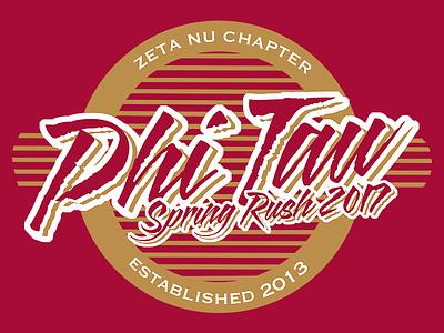 Phi Kappa Tau - Spring Rush 2017 duluth minnesota vector photoshop illustrator rush oldrow frat phitau phikappatau fraternity