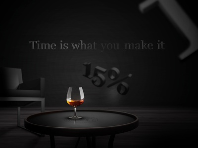 Bisquit - Time is what you make it website cognac bisquit ui webdesign