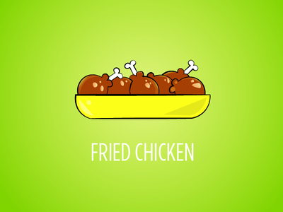 Fried Chicken Vector illustraion illustrator minimalist vector illustration vector art vector
