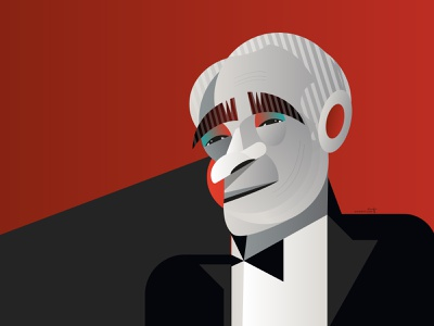 Martin Scorsese vector portrait geometric geometry dribbble illustrator design character illustration martin scorsese
