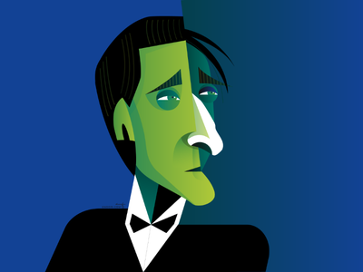 Adrien Brody pianist brody cubism geometric portrait character illustration illustrator