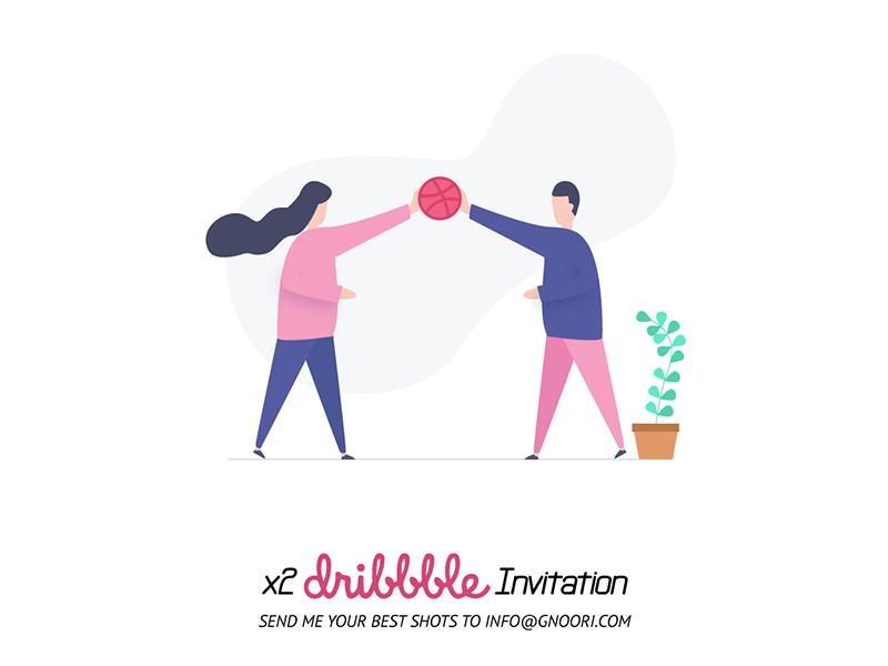 x2 Dribbble Invitation community material illustration illustration x2 dribble invitation dribbble invite