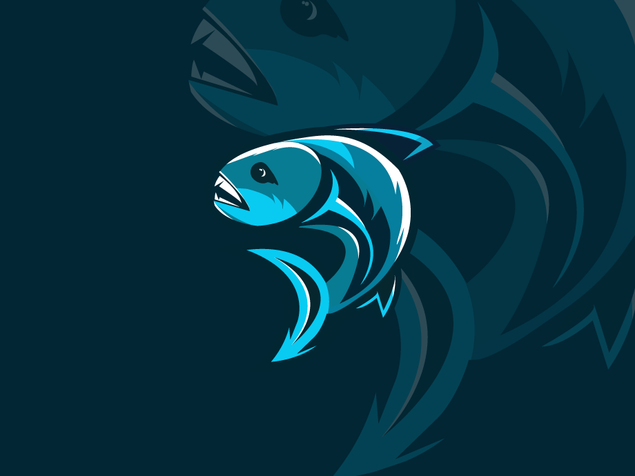 Fish Jump animal forsale coffee fish logo logo blue sea whale food fishing industry fish