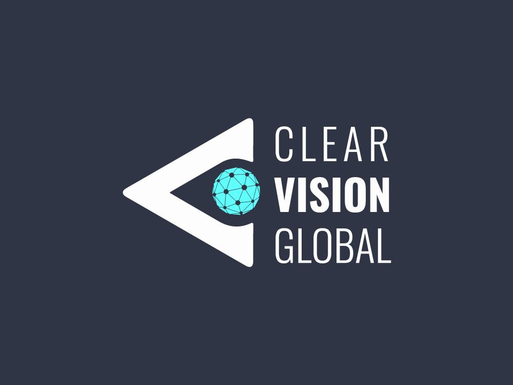 Clear Vision Global Logo a v communicatio world eye logo