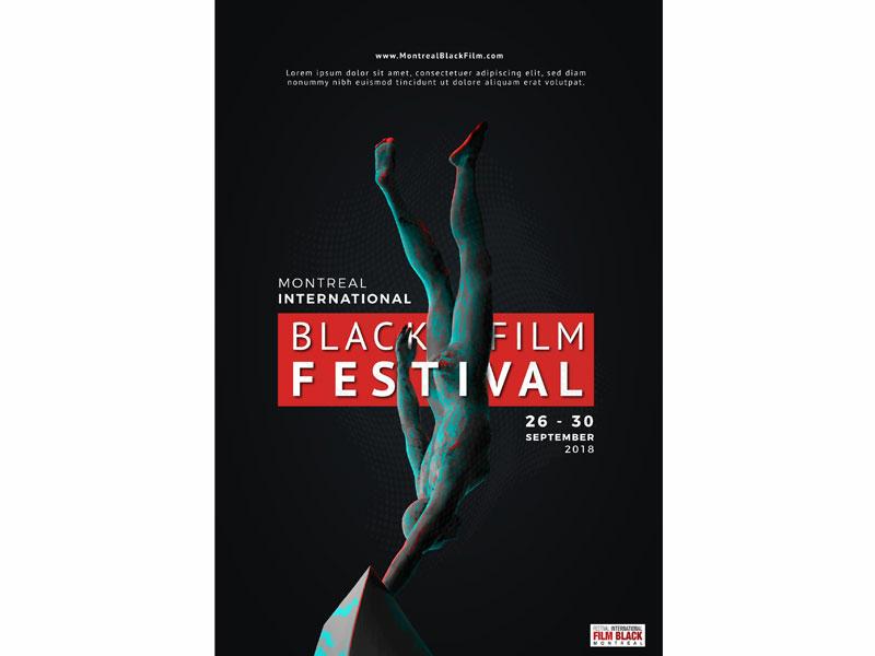 Poster For Black Film Festival CA freedom fight power black blacks black film poster movie film