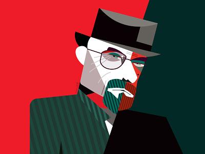 Bryan Cranston bryan cranston heisenberg breaking bad vector portrait geometric geometry dribbble illustrator character illustration