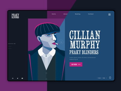 Cillian Murphy Web Concept user interface uidesign uiux ux website builder web website webdesign cillianmurphy peakyblinders ui design character