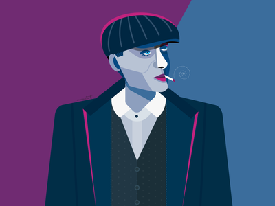 CillianMurphy cubism cillianmurphy peakyblinders vector portrait geometric geometry dribbble illustrator design character illustration