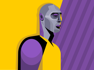 Kobe Bryant nba basketball illustrator vector portrait dribbble geometric geometry kobe bryant kobe character illustration