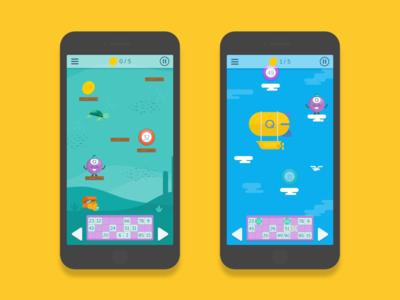 Q-jump Mini Game Concept flat design game design concept development illustration jump game platform bingo