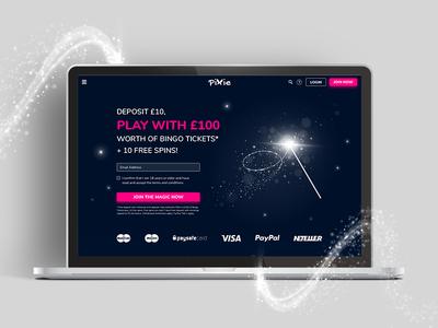 Pixie Bingo Redesign ux design ui design casino slots wireframes mystical magic gaming bingo pixie