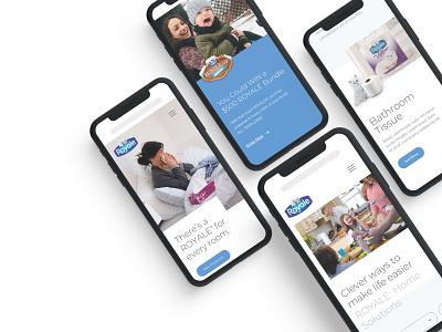 Royale Site Design responsive web design mobile ui