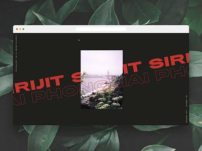Portfolio Site Concept 🌿 ui hover web design webflow typography