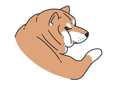 big beautiful boy ✨ ipad shibe shiba dog procreate illustration