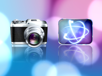 Camera and Browser Icon