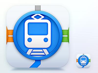 Train App Icon icon train app flat ios