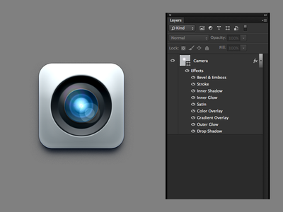 One Layer Style Camera - PSD layer one icon style psd photoshop camera