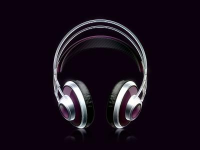 Headphone headphone music purple icon black