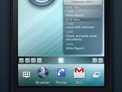 Concept Video of the SmartPhone UI concept video android smart phone gui desktop widget home screen