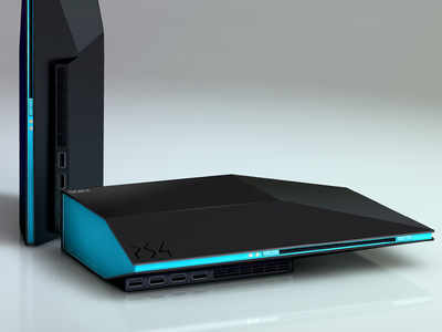 Playstation4 (PS4) Concept game playstation sony product machine hardware black ps4 playstation4