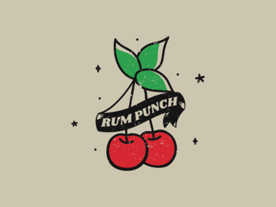 Royal American's Rum Punch tshirtdesign vector stars american tattoo traditional cherries typography illustration southcarolina the royal american charleston