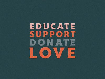 Educate Support Donate Love charleston lettering illustration gif typography bekind nojusticenopeace love donate support educate blacklivesmatter