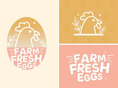 Farm Fresh Eggs patterns illustrator graphicdesign farming farm fresh eggs chickens logo identity branding