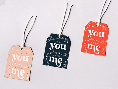 Holiday Tags - Weekly Warmup december illustration christmas lights christmaslights lettering font type typography labels tags gifttags holiday